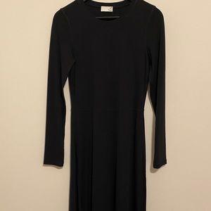 Aritzia wilfred kaylee black long dress medium new